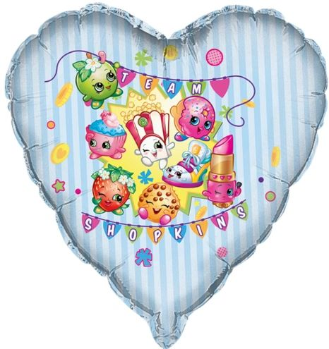 "27"" Shopkins SuperShape Heart Balloon"