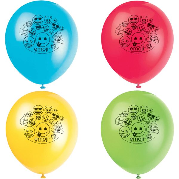 Emoji Latex Balloons, 8ct
