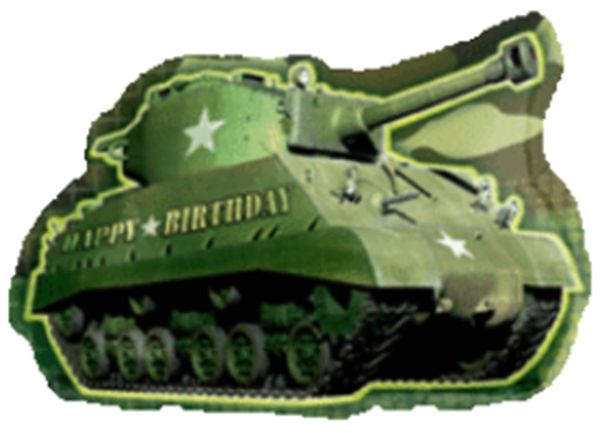 "26"" Army Tank Birthday Balloon"