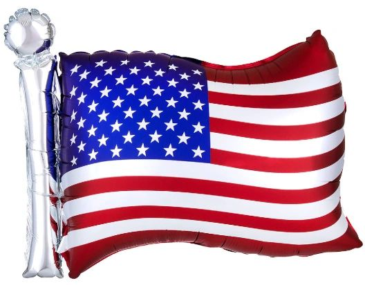 "27"" American Flag Balloon"