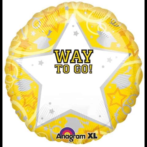 "18"" Personalized Yellow Grad Balloon - DISC"