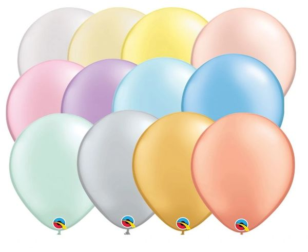 "01E Pearl Pastel Selection, 11"" Qualatex Latex 