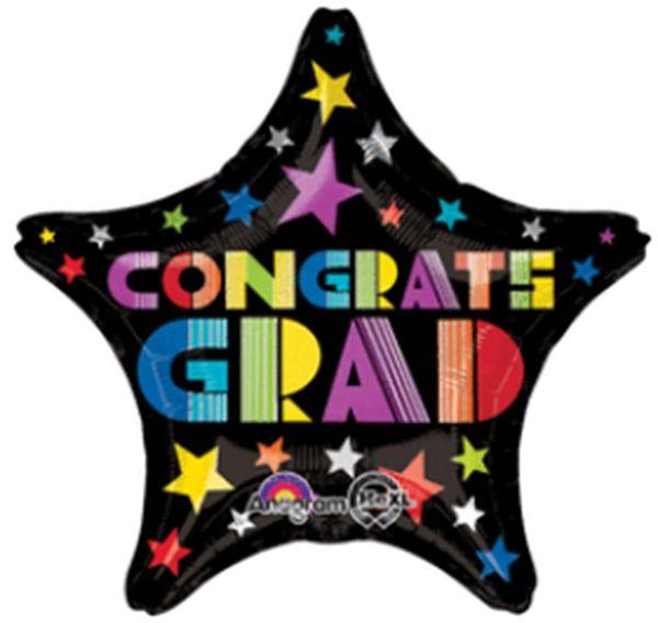 """19"""" Congrats Grad Fun Type Balloon"""