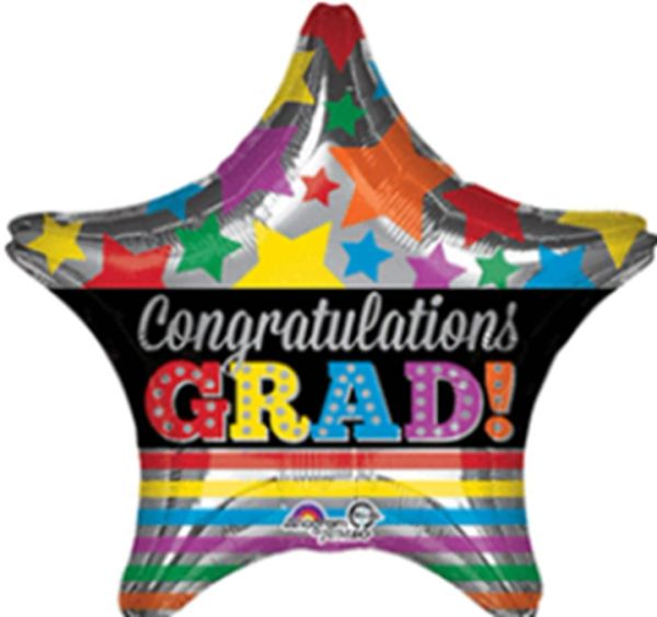 "28"" Congrats Grad Stars Balloon"