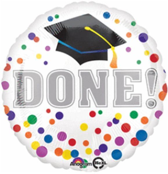 "18""Grad Done Balloon"