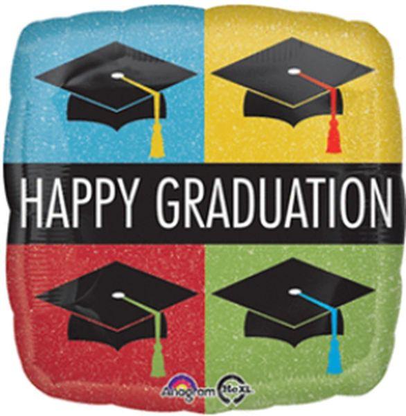 "18"" Happy Grad Caps Balloon"