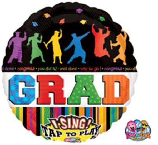 "28"" Celebrate Grad Sing a Tune Balloon"