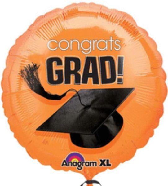 """18"""" Congrats Grad Orange Balloon"""