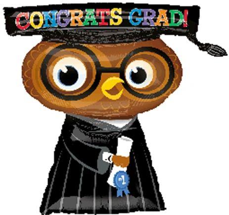 """26"""" Congrats Grad Owl Balloon"""