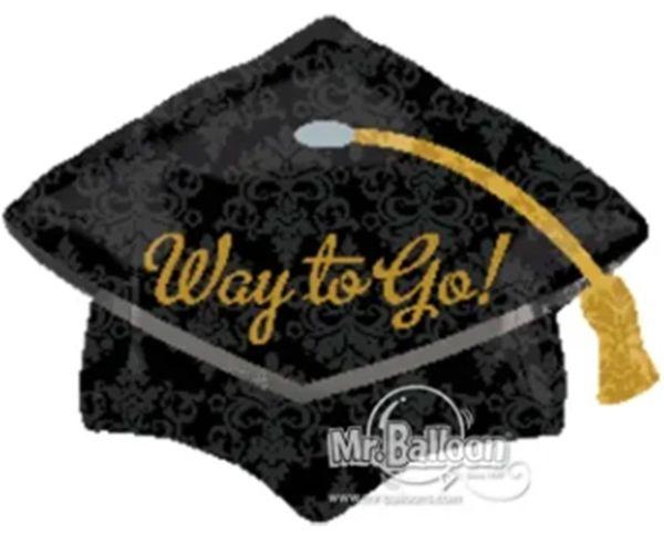 """18"""" Way To Go Grad Cap Balloon"""