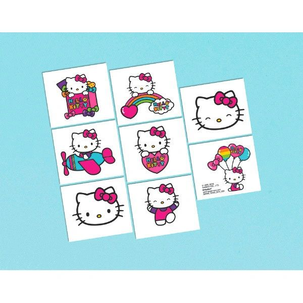 Hello Kitty Rainbow Tatoos