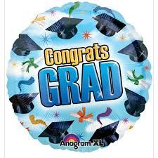 """Congrats Grad Blue 18"""""""