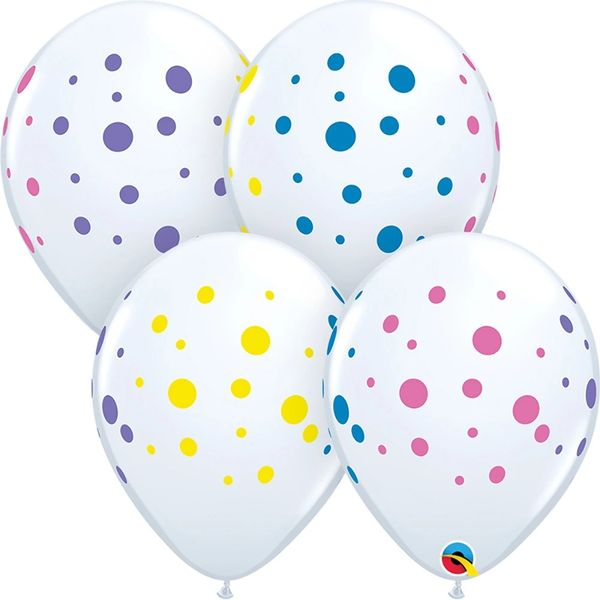 "11"" Colorful Dots Latex"