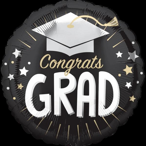"""18"""" Congrats Grad Silver Cap"""