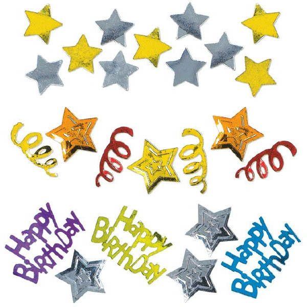 Happy Birthday Stars Confetti