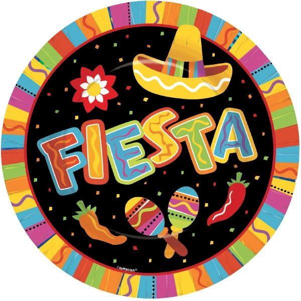 "Fiesta Fun Dinner Plates, 10 1/2"" - 8ct"
