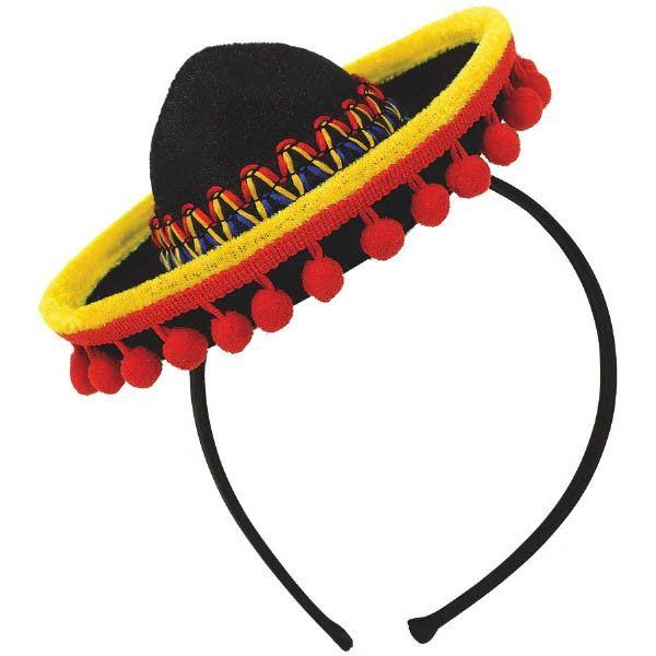 Sombrero Headband Fabric w/ Ball Fringe