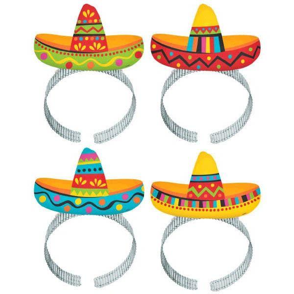Sombrero Headbands, 8ct