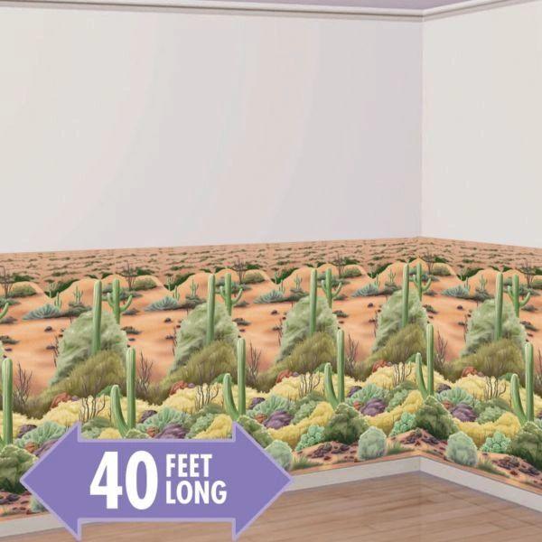 Desert Flora Scene Setter® Room Roll, 40ft long x 4ft tall