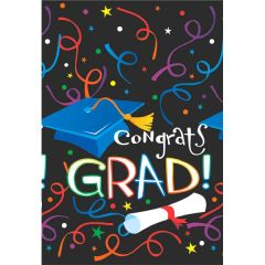 Grad Celebration Plastic Tablecovers, 3pc