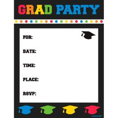 Grad Party Postcard Invitations, 8ct