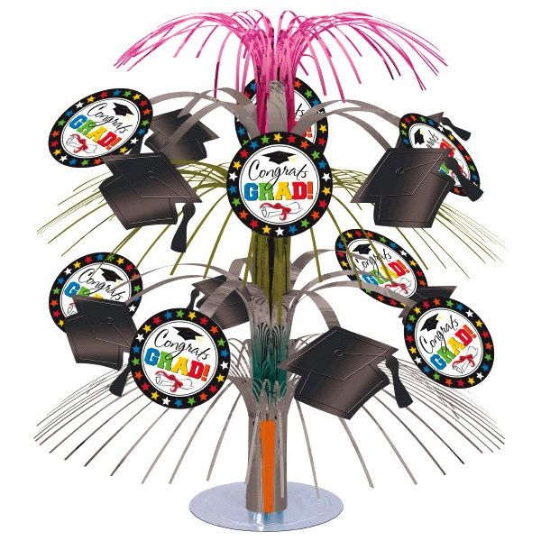 Graduation Cascade Centerpiece - Multicolor