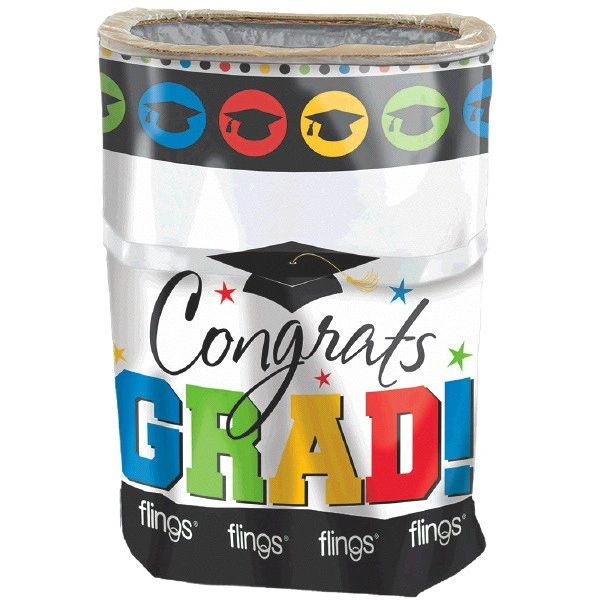 Multi color Grad Flings® Bin - Pop-Up Trash Bin