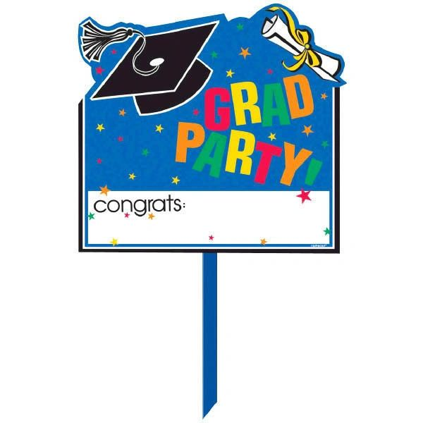 Congrats Grad Personalized Plastic Yard Sign