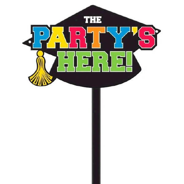 Grad Value Multicolor Plastic Yard Sign