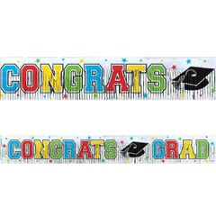 Graduation Metallic Fringe Banner