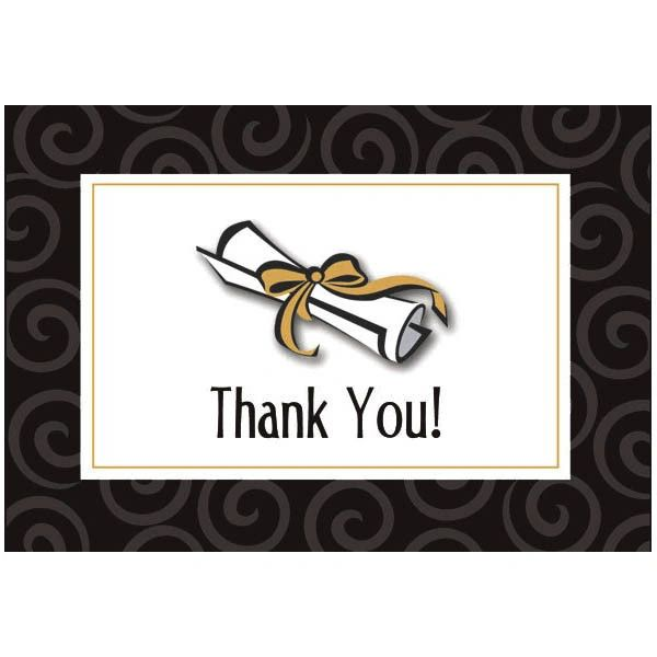 Graduation Day Folded Thank You Cards, 50ct
