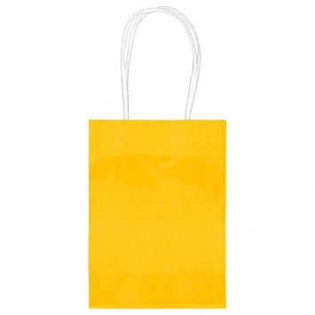 Small Sunshine Yellow Kraft Bag