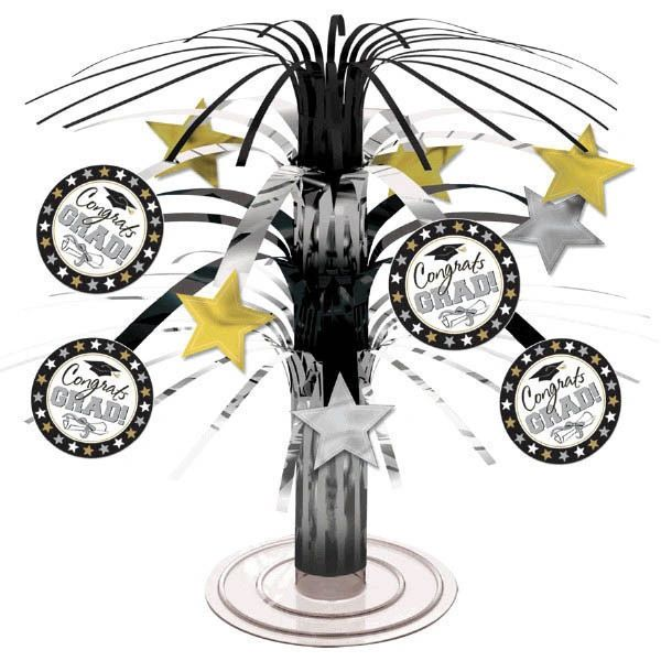 Black & White Grad Mini Cascade Centerpiece