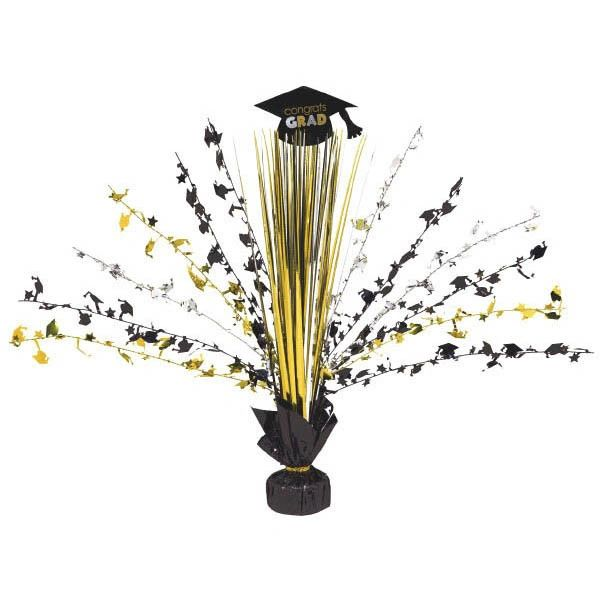 Black, Silver & Gold Grad Spray Centerpiece