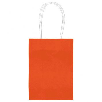 Small Orange Kraft Bag