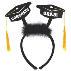 Grad Cap Headbopper w/Marabou
