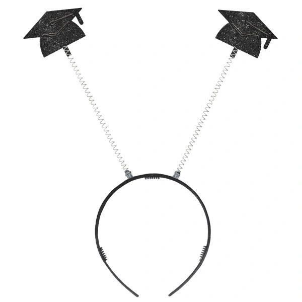 Value Grad Cap Head Bopper - Black Glitter