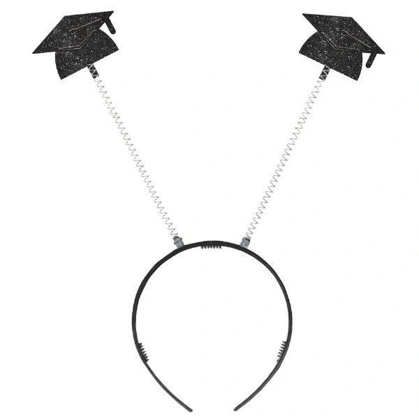 Value Grad Cap Head Bopper - Black Glitter