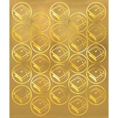 Gold Grad Metallic Sticker Seals, 50ct