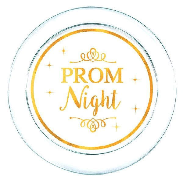 "Prom Night Plastic Appetizer Plates, 6"" - 16ct"