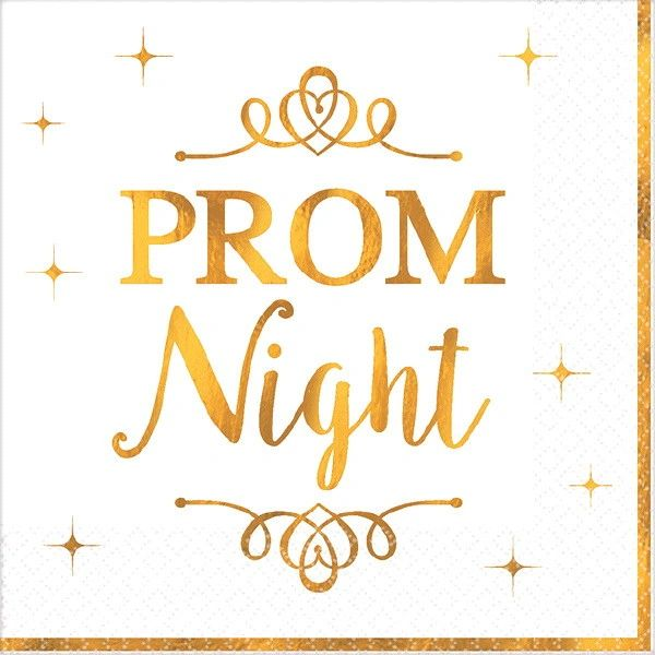 Prom Beverage Napkins, 16ct