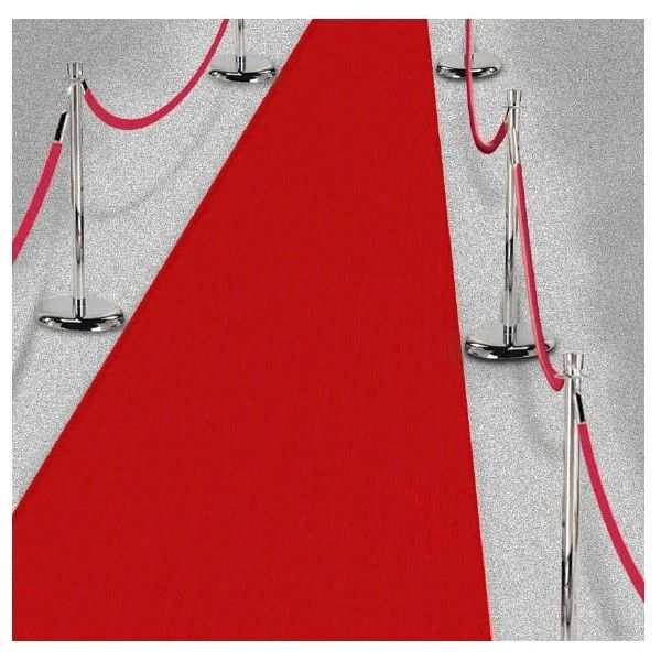 Fabric Aisle Runner - Red, 40ft