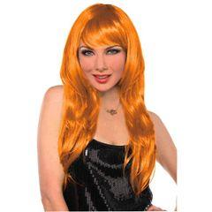 Glamorous Long Orange Wig