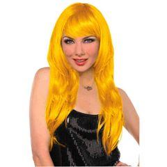 Glamorous Long Yellow Wig