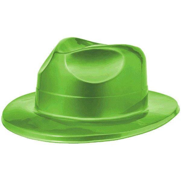 Green Plastic Fedora