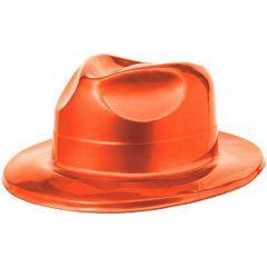 Orange Plastic Fedora
