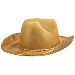 Gold Velour Cowboy Hat