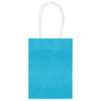 Small Caribbean Blue Kraft Bag