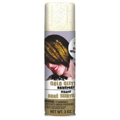 Gold Glitter Hair Spray