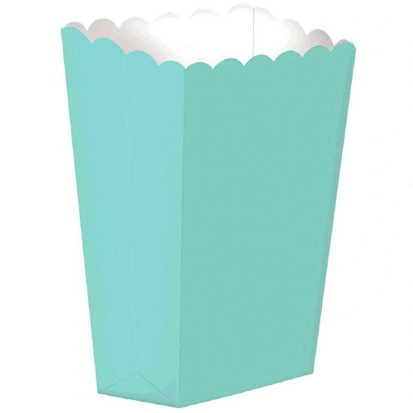 Robin's Egg Blue Popcorn Shaped Boxes, 10ct